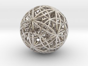 """Sphere of Sacred Union 2.5"""" (No Bale) in Rhodium Plated Brass"""