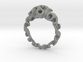 Gyroidring  in Gray PA12