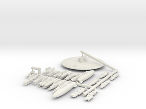 144 Falcon weapons options in White Natural Versatile Plastic