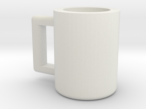 Coffee Mug: MP Scale Carbot in White Natural Versatile Plastic