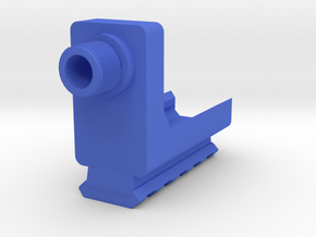 VP9 Frame Mounted Barrel Adapter (14mm-) with Rail in Blue Processed Versatile Plastic