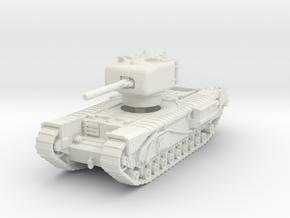 Churchill IV 6pdr 1/87 in White Natural Versatile Plastic