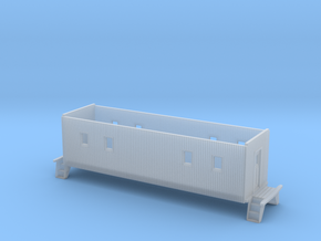 HO scale C&EI no-window caboose body  in Smooth Fine Detail Plastic