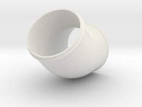 Rohrbogen 60mm 45 Grad in White Natural Versatile Plastic