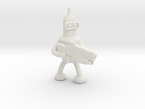 Futurama Bender Survivor miniature for games rpg in White Natural Versatile Plastic