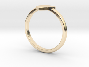 Simple heart ring  in 14k Gold Plated Brass