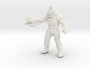 Doom Hell Razer 45mm miniature for games and rpg in White Natural Versatile Plastic