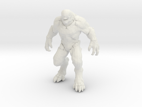 Doom Hellknight 50mm miniature for games and rpg in White Natural Versatile Plastic