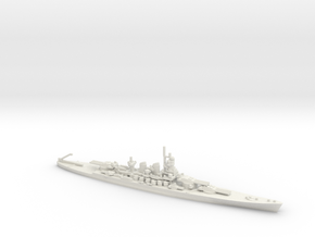 Italian Littorio-class Battleship in White Natural Versatile Plastic