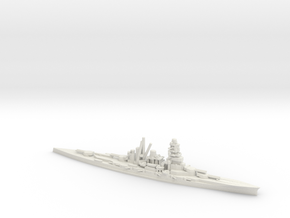 Japanese Kongo-Class Battlecruiser in White Natural Versatile Plastic