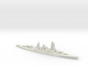 Japanese Nagato-Class Battleship in White Natural Versatile Plastic