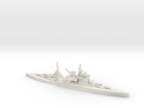 British Queen Elizabeth-Class Battleship in White Natural Versatile Plastic
