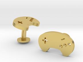 Sega Mega Drive Cufflinks in Polished Brass