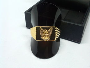 Phoenix Ring in 18k Gold Plated Brass: 5 / 49