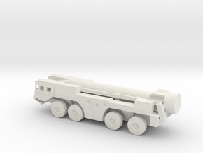 1/160 Scale MAZ SS-1 Scud Missile Launcher in White Natural Versatile Plastic