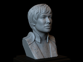 Cersei Lannister from Game of Thrones, Bust in White Natural Versatile Plastic