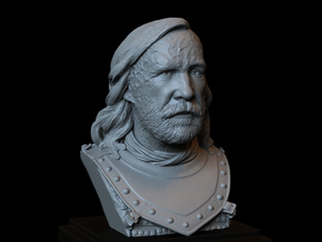 Sandor Clegane aka The Hound from Game of Thrones, in White Natural Versatile Plastic