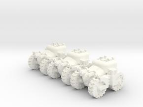 6mm - Assault Troop Tractor in White Processed Versatile Plastic