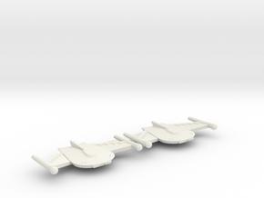 3788 Scale Romulan BattleHawk Destroyers (2) MGL in White Natural Versatile Plastic