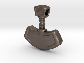 Mjolnir, Thor's Hammer in Polished Bronzed-Silver Steel