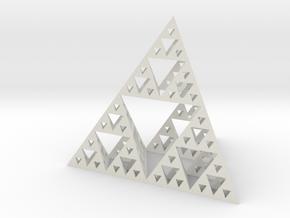 Sierpinski's Tetrahedron in White Natural Versatile Plastic