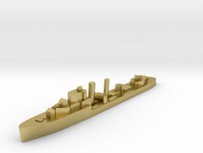 HMS Ivanhoe destroyer 1:3000 WW2 in Natural Brass