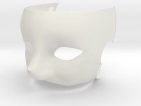 Fox Mask in White Natural Versatile Plastic