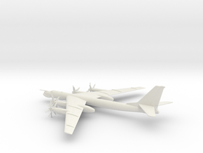Tupolev Tu-95MS Bear-H in White Natural Versatile Plastic: 1:200
