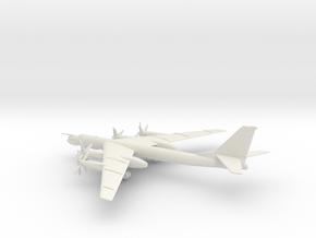 Tupolev Tu-95MS Bear-H in White Natural Versatile Plastic: 6mm