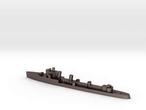 Italian Zeffiro destroyer WW2 1:1800 in Polished Bronzed-Silver Steel