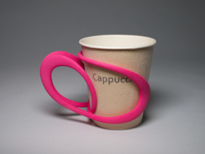 Comfortable Cup Holder in Pink Processed Versatile Plastic