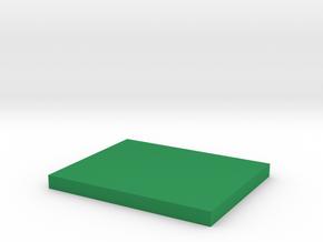 1:182 Vehicle/figure rectangular base in Green Processed Versatile Plastic