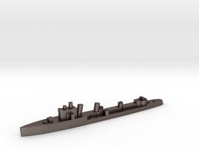 Italian Euro destroyer WW2 1:2400 in Polished Bronzed-Silver Steel