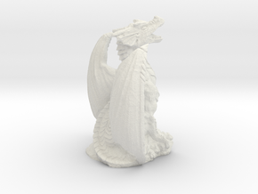 Magnificent Dragon Home Decoration RPG Miniature in White Natural Versatile Plastic