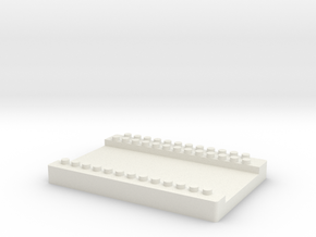 Well Plate to hold 3mm lateral flow strips LFD in White Natural Versatile Plastic