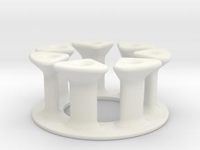Cable circle headphones in White Natural Versatile Plastic