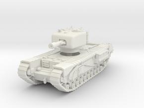 Churchill IV 95mm gun 1/56 in White Natural Versatile Plastic