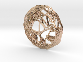 CHAOS e_ring_03 in 14k Rose Gold Plated Brass: Small
