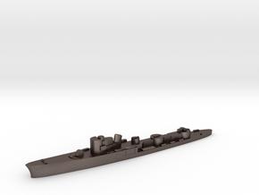 Italian Uragano torpedo boat 1:1800 WW2 in Polished Bronzed-Silver Steel