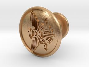 Bird Cufflinks in Natural Bronze
