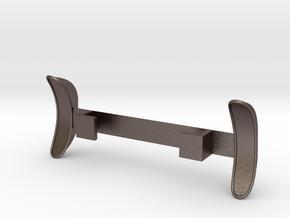 Standard Wheelbase Rear Trailing Fenders in Polished Bronzed-Silver Steel