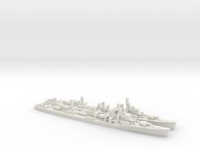 Japanese Yugumo-Class Destroyer (x2) in White Natural Versatile Plastic