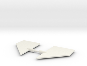 Battle Cruiser Auxiliary Wings in White Natural Versatile Plastic