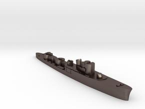 Italian Fortunale torpedo boat 1:3000 WW2 in Polished Bronzed-Silver Steel