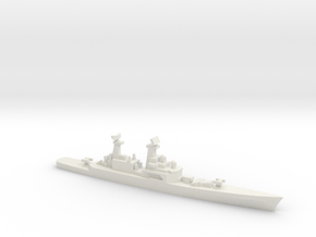 USS CGN-25 Bainbridge, 1990 layout, 1/1250 in White Natural Versatile Plastic