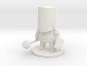 Castle Crashers Knight miniature DnD games rpg in White Natural Versatile Plastic