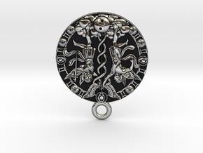 Gemini-Medaillon in Antique Silver