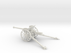 1/32 IJA Type 90 75mm Field Gun (horse drawn) in White Natural Versatile Plastic
