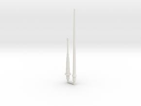 Mauler Antenna Set (Long and Short) in White Natural Versatile Plastic