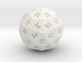 Hollow d60 - 4cm dia in White Natural Versatile Plastic